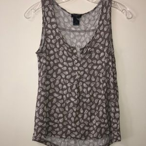 Paisley gray tank top